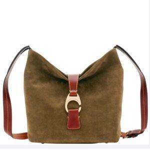 Dooney & Bourke   Suede Crossbody Hobo Handbag